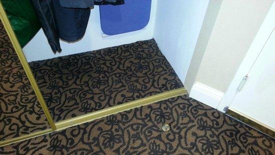 Hilton Philadelphia City Avenue: Toe Stub Menace in Front of Tiny Closet