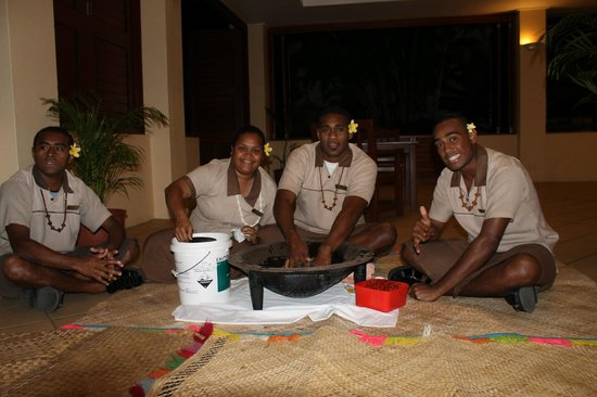 Outrigger Fiji Beach Resort: Talai Butlers - Kava Ceremony