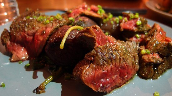 """Misery Loves Company: Bavette Steak from their """"meat and three"""" menu choice"""