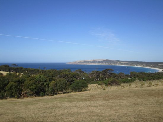 Seascape Lodge on Emu Bay: View from the garden