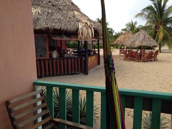 de Tatch from adjoining cabana at Seaspray hotel