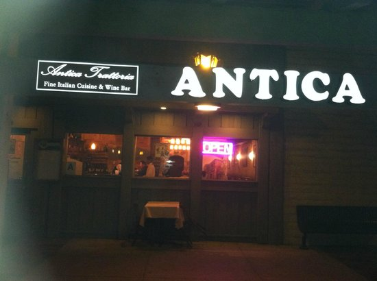 Antica Trattoria : The Front of the Resturant
