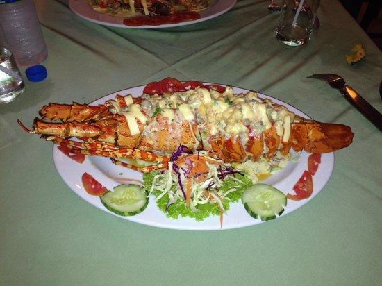 Outdoor Restaurant: Rock lobster thermidor