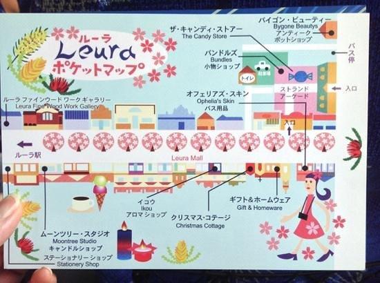 Leuralla: バスツアーで貰った地図