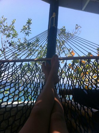 The Caves: View from hammock