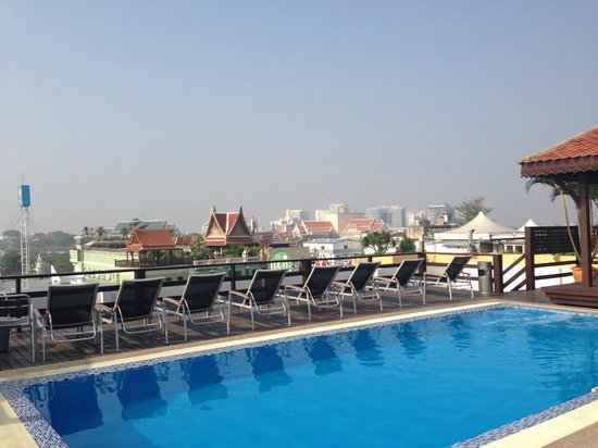 Rooftop Pool With A View Picture Of Khaosan Palace Hotel