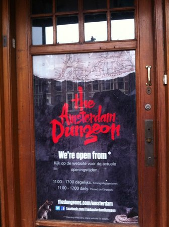 The Amsterdam Dungeon : entrance