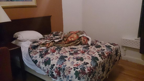 Europa Hostel: The bed of our room as we got our room