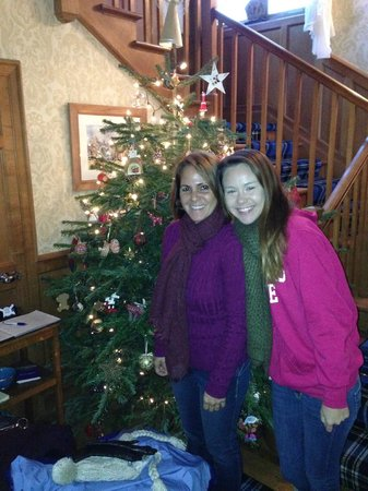 Kinburn Guest House: Standing in front of the Christmas Tree
