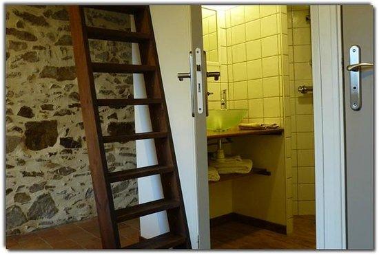 Le Chateau Rouge : Salle d'eau, chambre potière