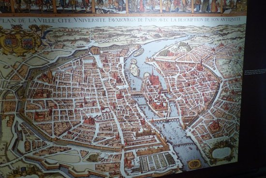 Archeological Crypt of the Parvis of Notre-Dame: Crypte Archeologique - ancient city maps