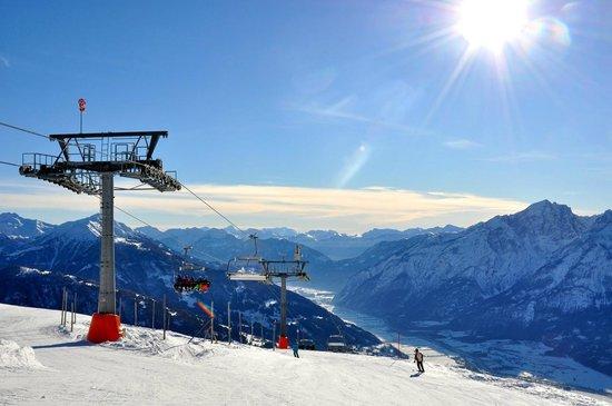 Sporthotel Hochlienz: Das Skigebiet hat nur 37km Pisten, bietet aber traumhafte Aussichten.