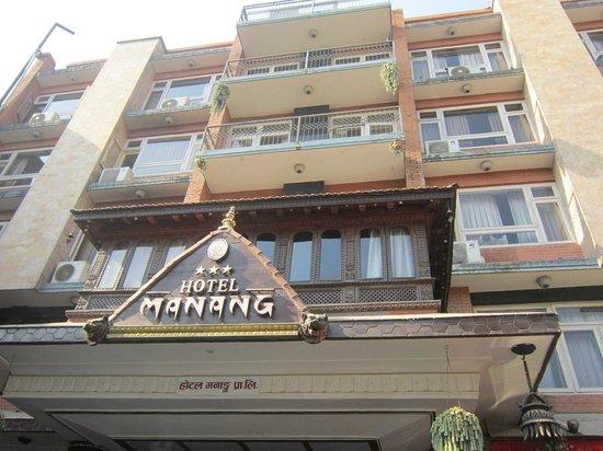 Hotel Manang: Entrance