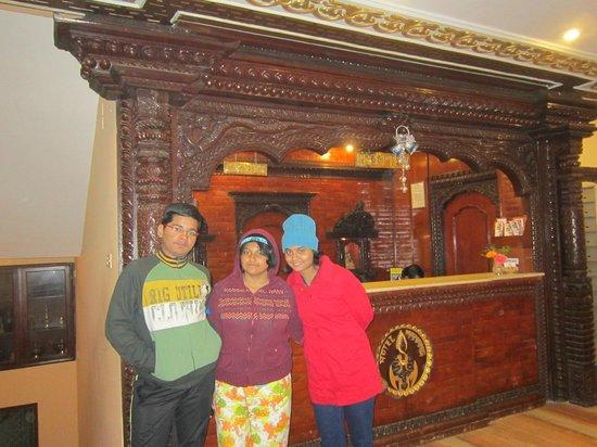Hotel Manang: Reception (lobby)