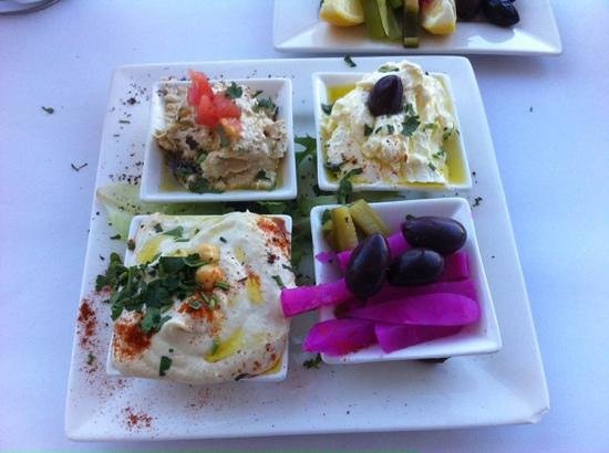 Al Amir: Trio of Dips, with pickles