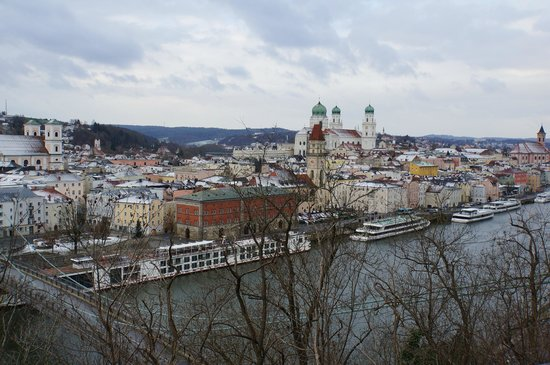 Hotel König: View of Passau from the Castle
