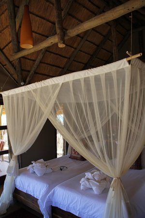 Hoodia Desert Lodge: Comfortable bed, and large chalet