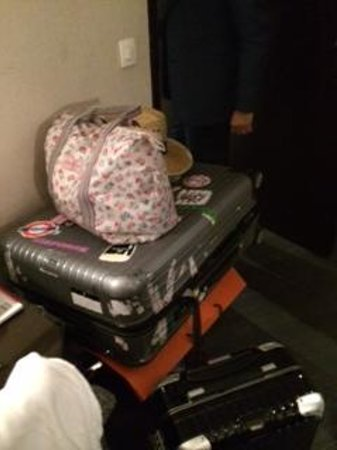 Hotel Arc Elysees: Money was stolen from inside this luggage, completely unlocked but not snapped like the other lu