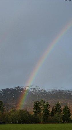 Struy Inn: Rainbow over Beinn a Bha'ach ard, a Corbett