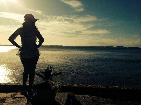 Martin Pescador: Vista da pousada fim de tarde
