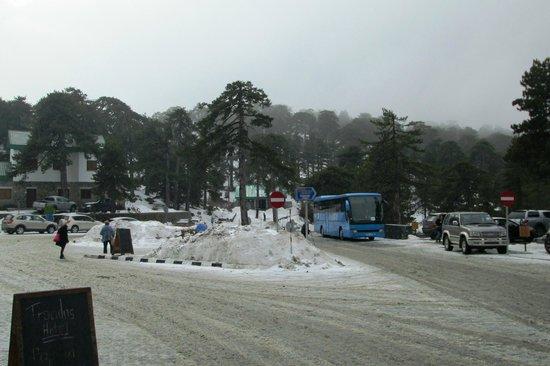 Atlantica Golden Beach Hotel : Snow in the Troodos