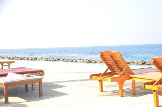 Royal Island Resort & Spa: piscina spiaggia