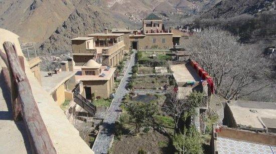 Kasbah Du Toubkal : Anlage von den Turmzimmern aus gesehen