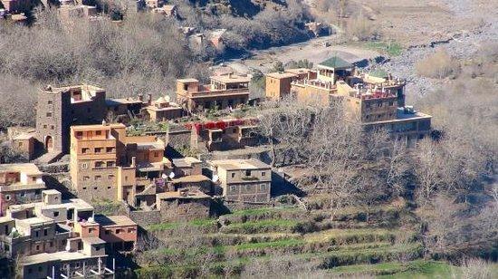 Kasbah Du Toubkal : Gesamte Anlage auf einen Felsen gebaut