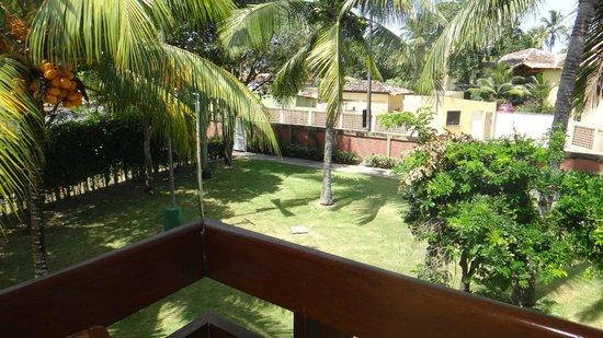Oceano Praia Hotel: Vista da varanda que dá para os fundos do hotel. Uma tranquilidade!