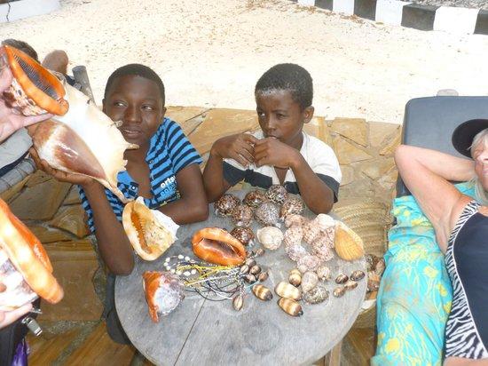 Mbuyuni Beach Village: Locals business boys