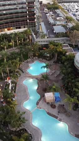 Marriott Marquis San Diego Marina: View of pool from room