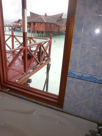 Maratua Paradise Resort: view from bathroom