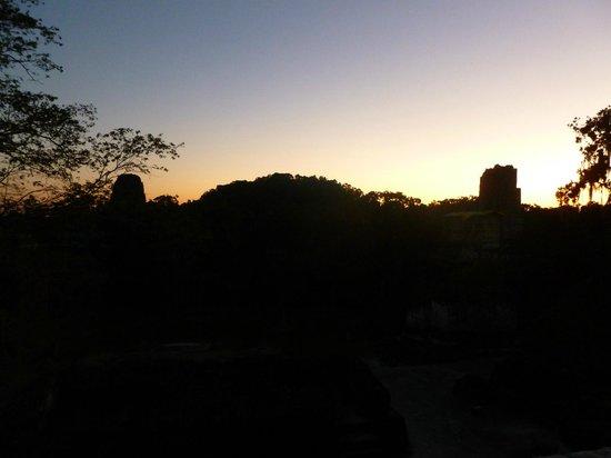 Hotel Tikal Inn: Gran Plaza during sunset tour