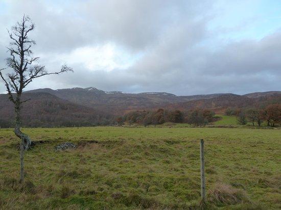 Glen Strathfarrar: view at the start of the Glen