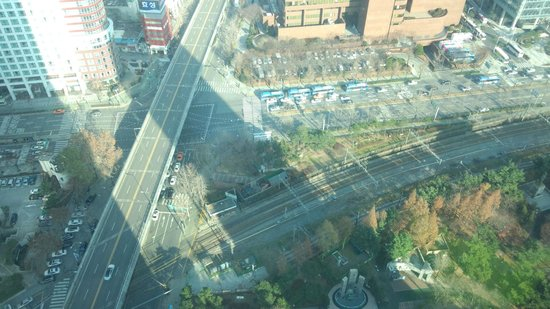 The Seoul : 部屋から見下ろした景色