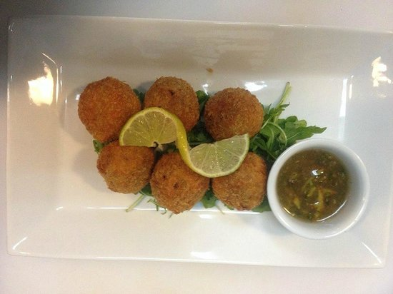 Francisco's Caribbean Local Cuisine: Conch Fritters with Caribbean Dipping Sauce