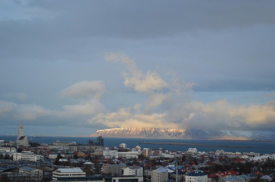 The Pearl (Perlan): Looking out over cental Reykjavik and the Hallgrímskirkja Church