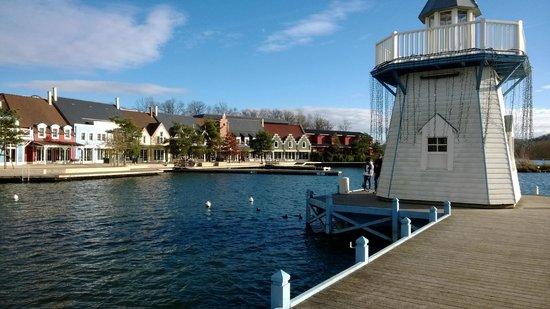 Center Parcs Le Lac d'Ailette : vu du lac