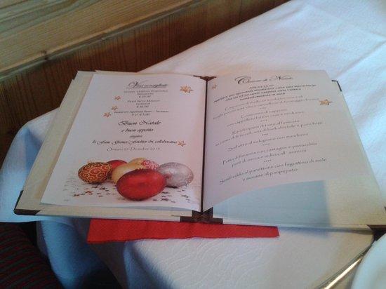 Hotel Grones : menù di Natale