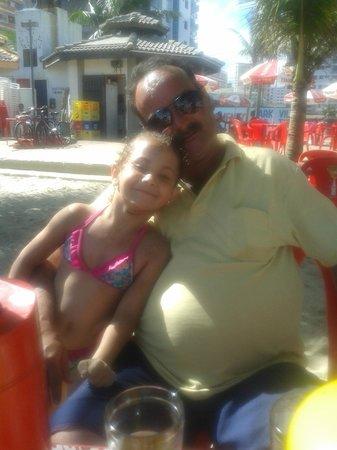 Tupi Beach: meu filho sergio e minha neta