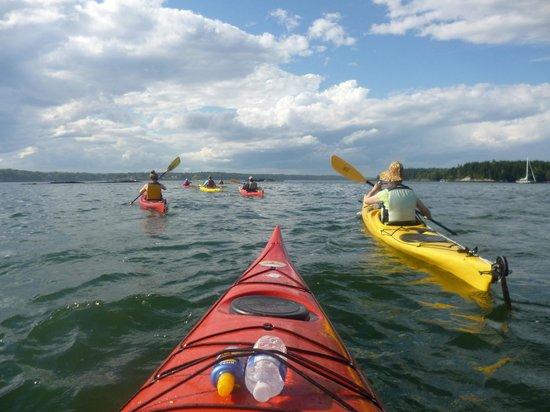 Tidal Transit Kayak : Kayaking out at sea!