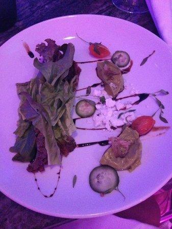 San Juan Water & Beach Club Hotel: Aguacate- Avocado Panna Cotta Salad