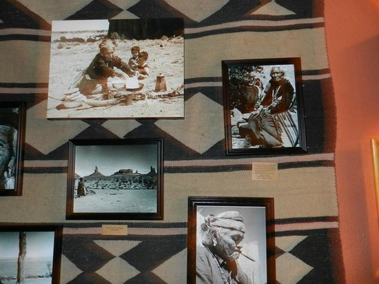Goulding's Trading Post Museum.: Some of the many photos at Gouldings Museum.