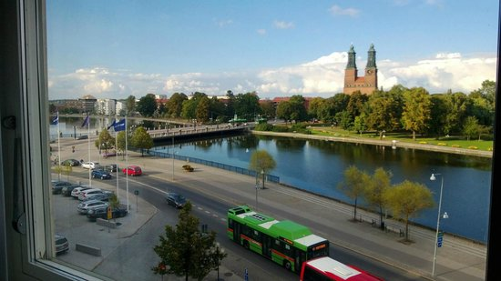 Comfort Hotel Eskilstuna: River front view from my room.