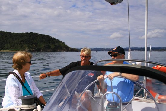 Phantom Sailing : I can't believe he actually let me take the helm!