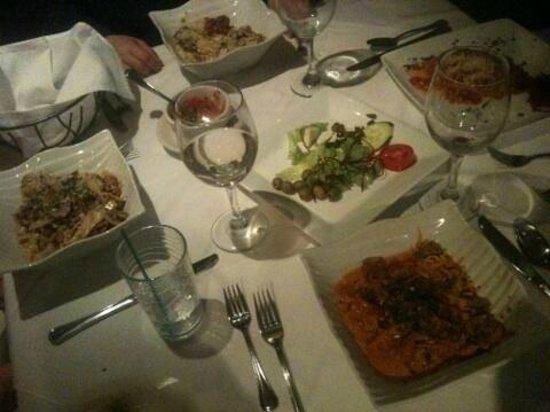 La Brezza Ristorante: Fine meals, table and whats left of the anti pasti