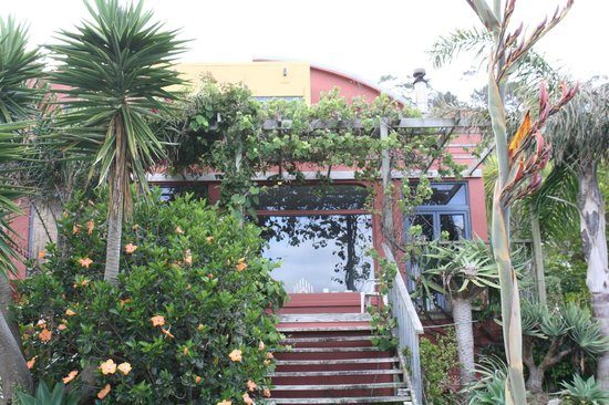 Muriwai Beach B&B: Front of Home - Rental and Balcony Upstairs