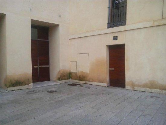 Palacio del Conde Luna: Humedades del zócalo