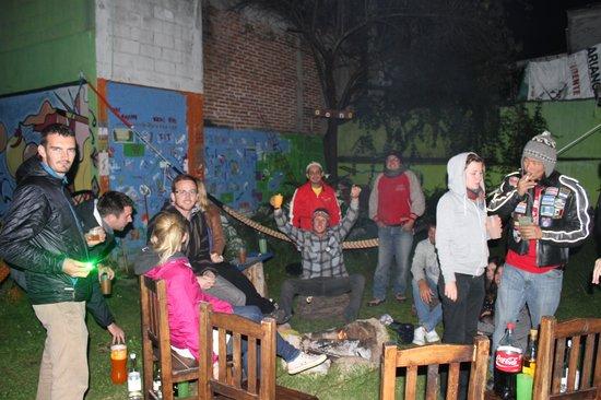 Iguana Hostel: Drinks in the Garden