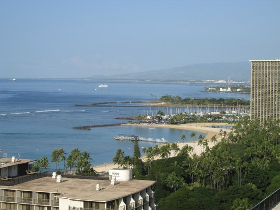 The Imperial Hawaii Resort at Waikiki: View from the rooftop pool area